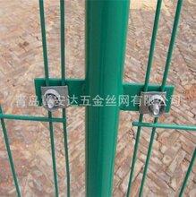 青岛供应三角折弯护栏网桃形立柱护栏网现货小区绿化园林防护网支持定做图片