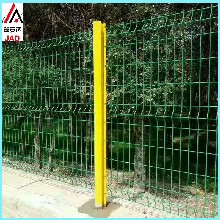 三角折弯护栏小区围墙护栏网园艺围栏网厂区围墙桃柱护栏网图片