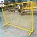 青岛临时防护栏移动防护网车间隔离栏带滑轮防护网隔离网