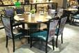 湘菜館主題餐桌大廳專用復古圓桌椅尺寸可定制休閑主題工業風桌椅