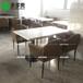 深圳家具廠供應咖啡廳大理石餐桌大理石長方桌