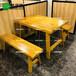 廣州南粥北烤實木餐桌木屋燒烤餐桌連鎖店木屋燒烤桌椅供應商