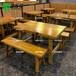 李家木屋燒烤餐桌李家木屋燒烤同款桌子全實木餐桌實木板凳