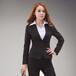 新派威女士商务正装新款韩版修身女西装中竖纹小芽边2扣