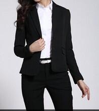 新派威女士平纹2扣修身显瘦羊毛西装女士套装包西裤