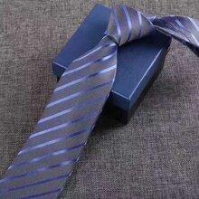 領帶時尚百搭領帶真絲商務男式領帶正裝藍白點領帶圖片