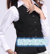 女装修身时尚韩版商务正装女士黑色小马夹