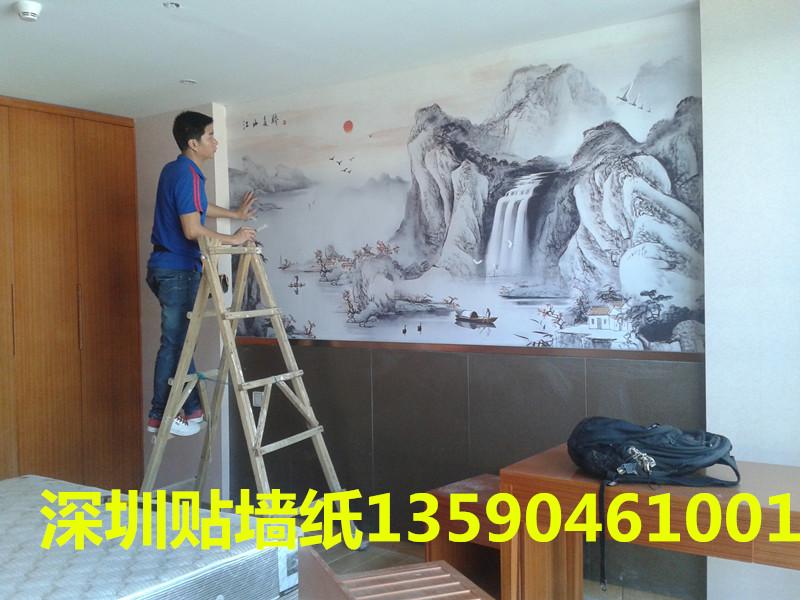 谢傅深圳专业贴墙纸无缝墙布热胶壁画包工包料地毯
