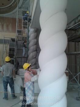 青岛机制烟道GRC构件EPS线条景观雕塑、花盆、砂岩制品定制批发