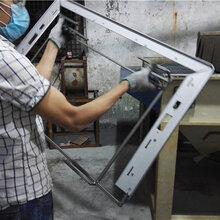全自动铝型材喷砂机铝边框自动喷砂机图片