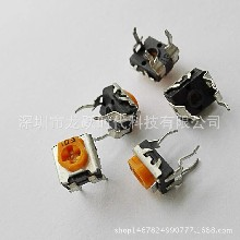 厂家直销橙黄色松下微调电阻10K卧式可调电阻电位计WH06-02小型微调电位器