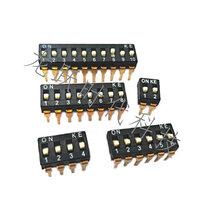台湾KE黑色耐高温原装2位高脚直插开关/DSIC02LHGE拨码编码开关