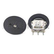 厂家直销齿轮拨盘电位器调音器B103/10K/50K/100K单联3脚162MM