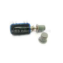 1K2.2K4.7K10K滑動變阻器WXD3-13-2W精密多圈電位器配灰色旋鈕帽圖片