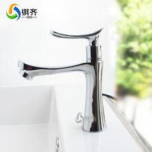 一件代發歐式洗手盆坐式臺盆單把銅芯水槽大拇指單冷面盆水龍頭圖片