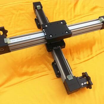 非絲桿直線模組滑臺伺服步進電機驅動滑塊運動點膠鎖螺絲機