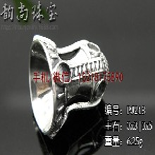复古镶嵌绿松石S925纯银佛塔空托配件手串串珠银配饰图片