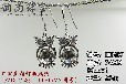 可愛貓頭鷹耳環空托藍珀珍珠熱賣個性女式耳飾銀托配件