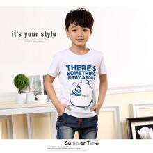 卡通字母图案儿童t恤批发,便宜儿童t恤批发,R/H品牌儿童t恤批发