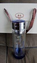 西安双层水晶玻璃杯免费定制log设计