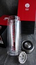希诺高档保温杯专柜正品杯中经典西安双层希诺加厚水晶玻璃杯图片