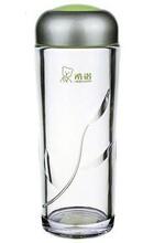 西安杯子批发希诺塑料杯运动杯双层PC杯外形美观晶莹剔透图片