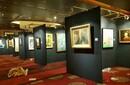 北京书画展背景墙出租,画展展架展板租赁图片