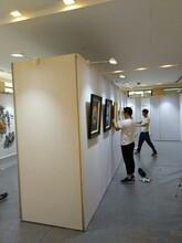 画展板墙亚麻布画廊展示架画展贴布展墙租摄影展专用无缝板墙