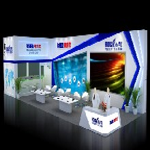 车展广州车展现场汽车展台设计搭建展览展示3D模型