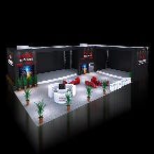 2018电器照明展览展览搭建材料展台设计3D模型效果图