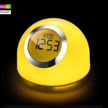 LED智能wifi炫彩礼品闹铃灯触控感应远程控制开关随心调光调色图片