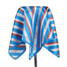 北京海淀W真丝丝巾定制罗圣依LOGO领带足球围巾批发