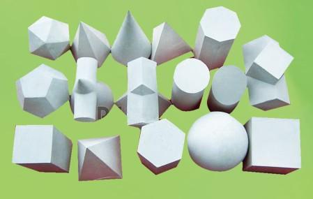 圆球、四棱锥、正方体、圆锥、长方体、圆柱体、六棱柱、方带方、图片