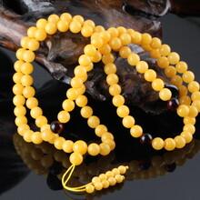 波罗的海天然琥珀蜜蜡项链饰品批发鸡油黄蜜蜡琥珀配链DIY手工琥珀蜜蜡工厂直销