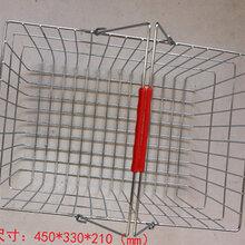 金属购物篮丝网手提篮电镀超市购物篮购物筐批发图片