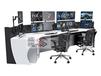 公安局监控指挥中心指挥操作台监控调度台调度桌效果图生产