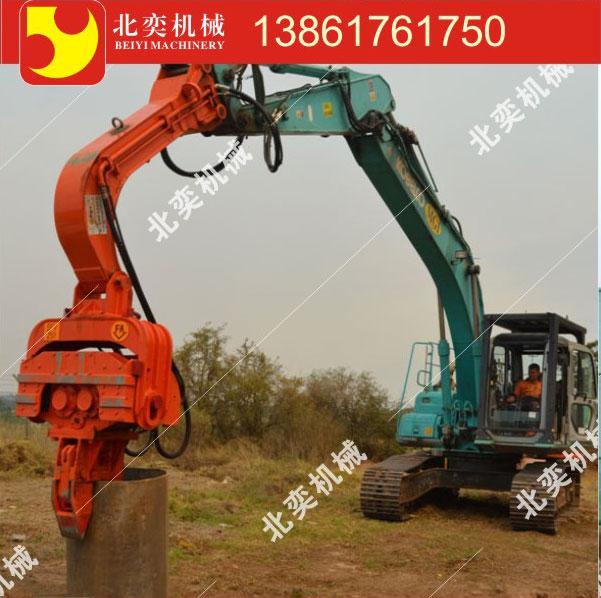 江苏中型振动锤头厂家400液压管桩打桩机图片