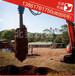 小型挖掘机螺旋钻机挖掘机螺旋钻螺旋地桩打桩机