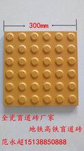 亮黄色盲道砖,室外圆点盲道砖安全防滑图片