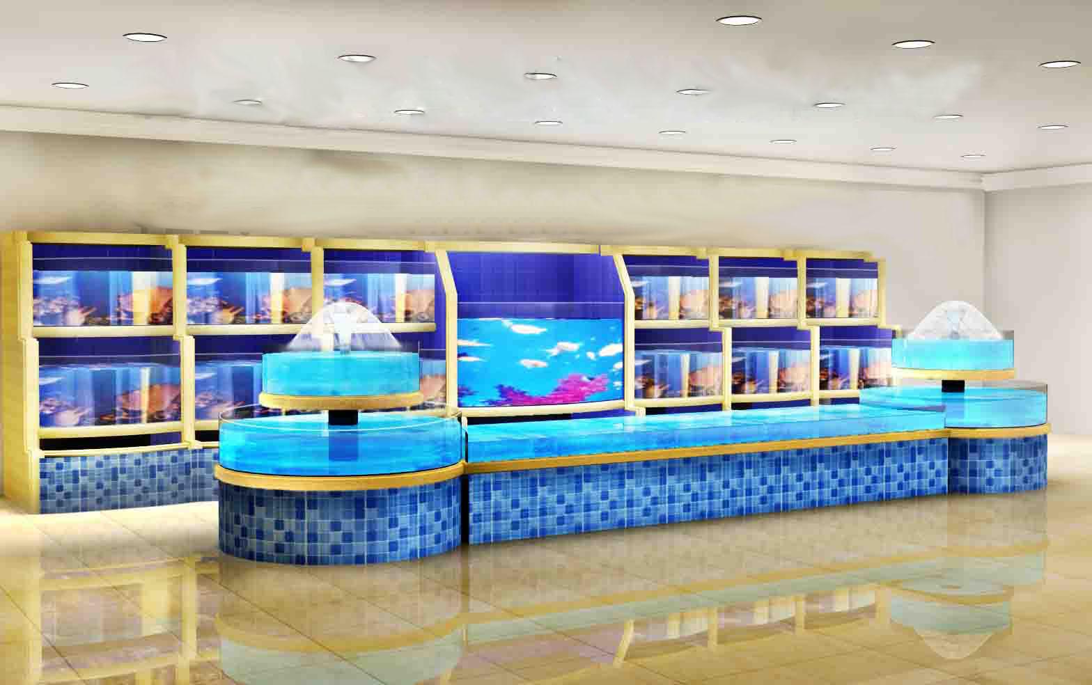 广州海珠海鲜鱼缸供应商,广州越秀海鲜池制冷工程