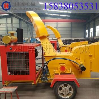 天津供应树枝木屑机-可移动式柴油动力树枝粉碎机用途