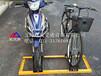 自行车锁车停放架材质校园卡位式自行车停车架