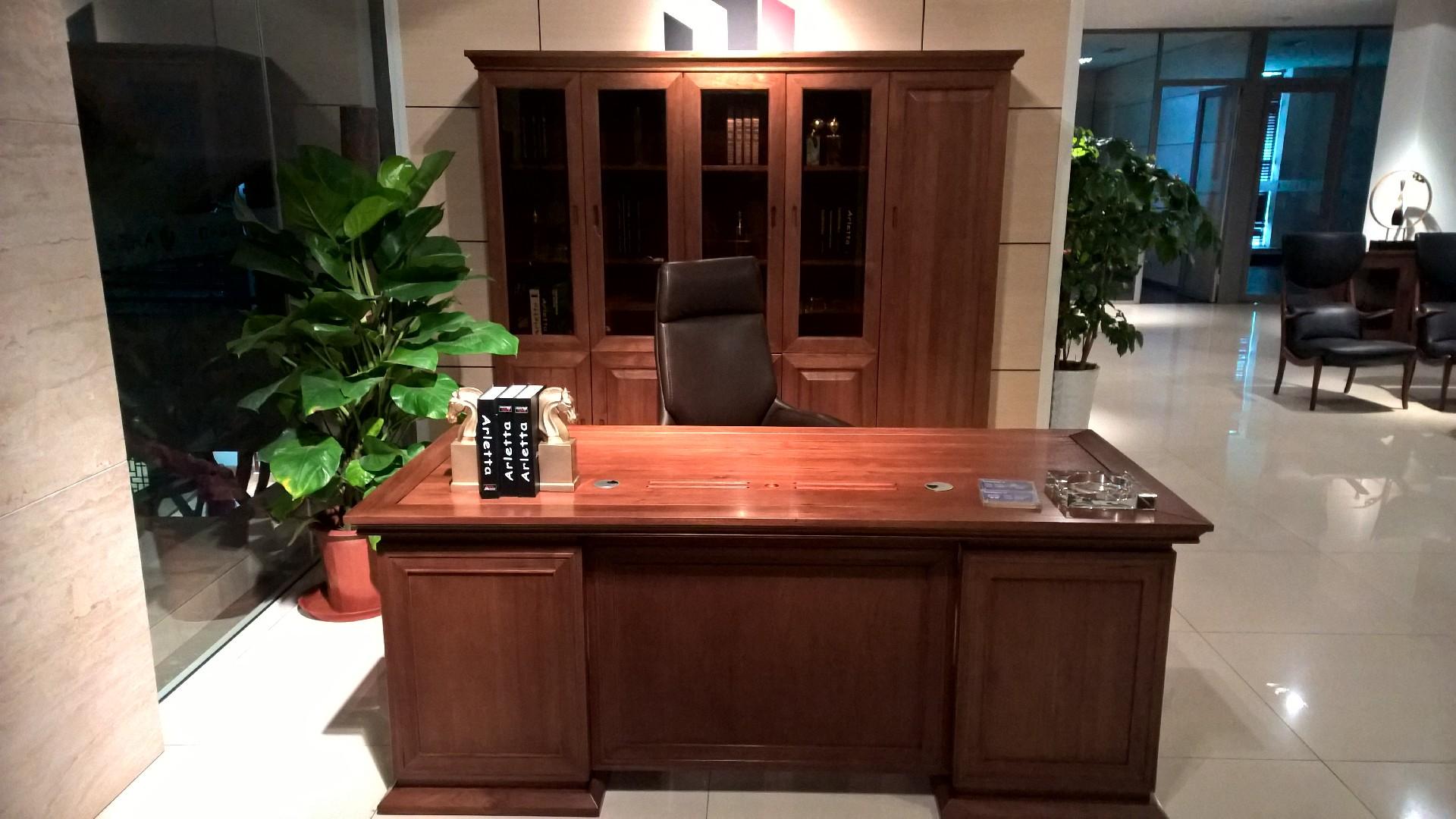 实木班台,实木书柜佳诚九悦2080系列实木办公家具