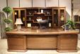 实木班台,实木书柜佳诚九悦中式和睿系列实木办公家具