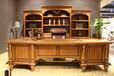 实木书柜,实木班台美式林肯系列2800