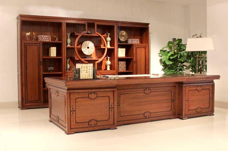 全实木办公家具中式和祥系列3200实木班台-实木班台报价 厂家