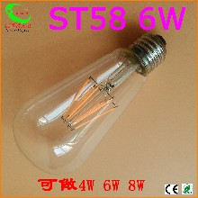 ST586WLED复古爱迪生灯丝灯6W钨丝led灯泡水晶灯图片