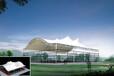 仙桃市羽毛球场膜结构遮阳篷,户外景观休闲膜伞设计制作