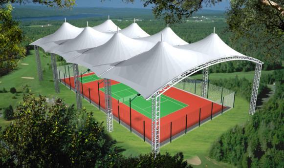 硬地丙烯酸网球场图片
