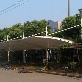 随州市水厂景观遮阳棚膜结构,加油站防火屋顶膜结构设计施工图片1